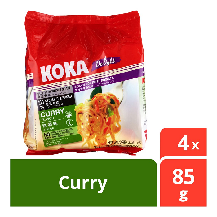 Koka Delight Curry Mie Rasa Kari Instan Instant Non Fried Noodles  340g Bungkus Besar