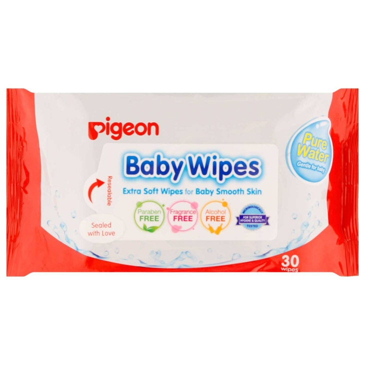 PIGEON BABY WIPES PURE WATER 30S 200G