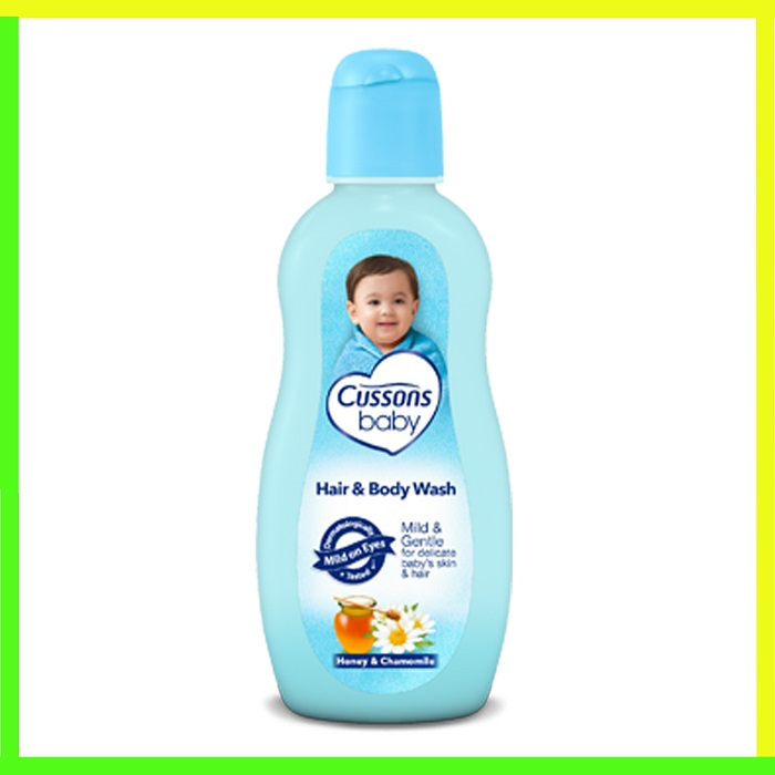 CUSSONS BABY HAIR AND BODY WASH 100ML+100ML