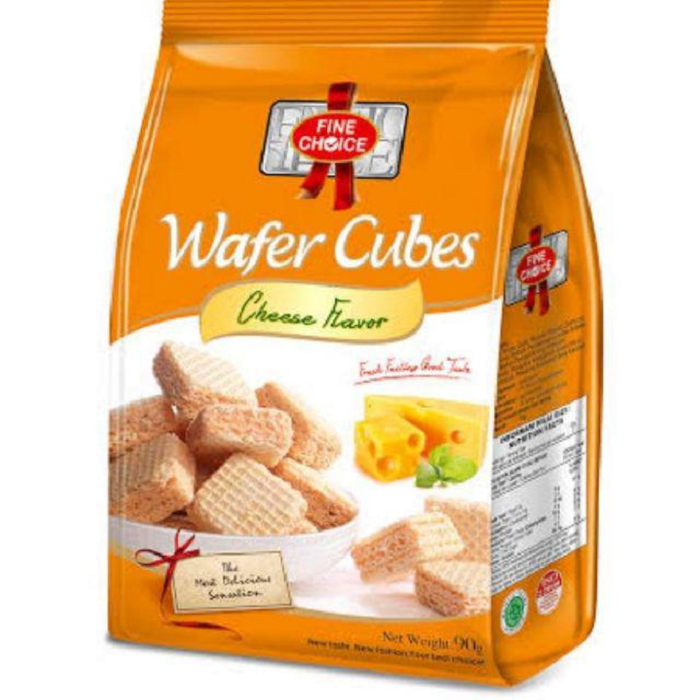 FINE CHOICE WAFER CUBES CHEESE FLAVOUR 90GR