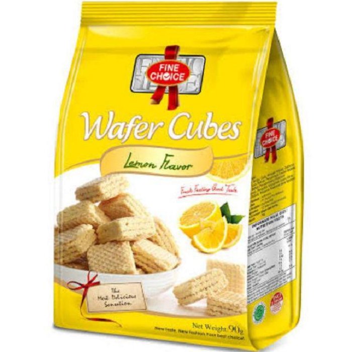 FINE CHOICE WAFER CUBES LEMON FLAVOUR 90GR