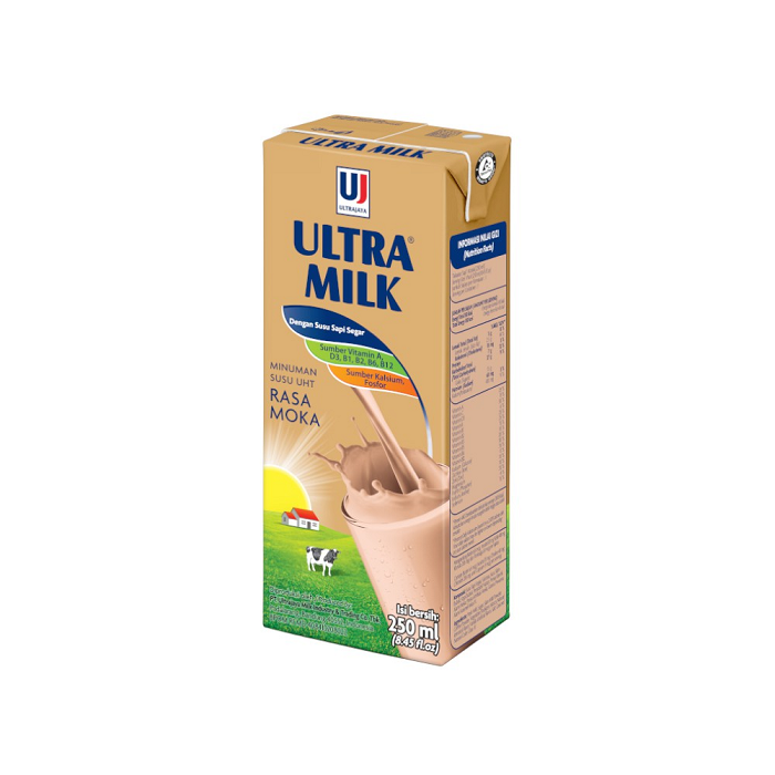 Ultra Milk Susu UHT Rasa Mocca 250ml