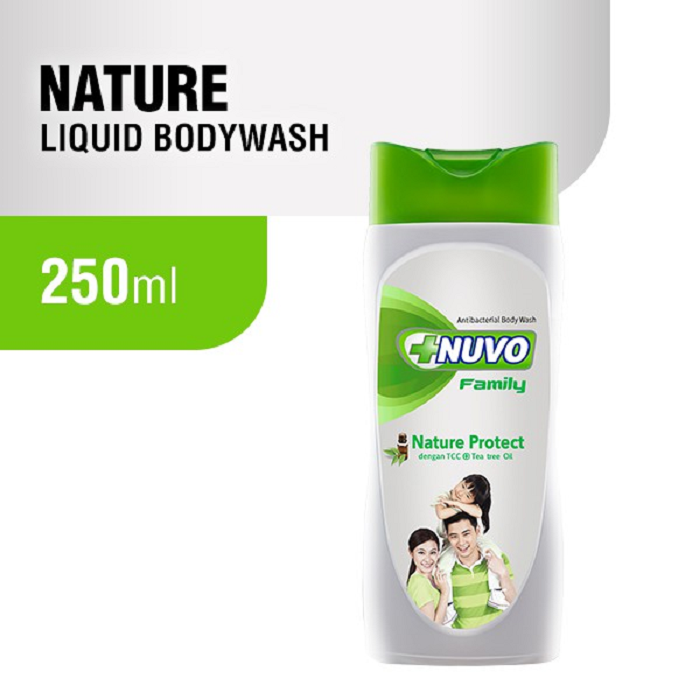 Nuvo Nature Green Bottle Body Wash Nature Protect 250ml