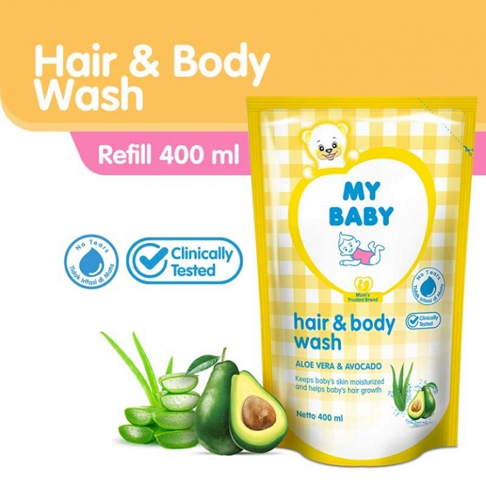 MY BABY HAIR & BODY WASH 400ML