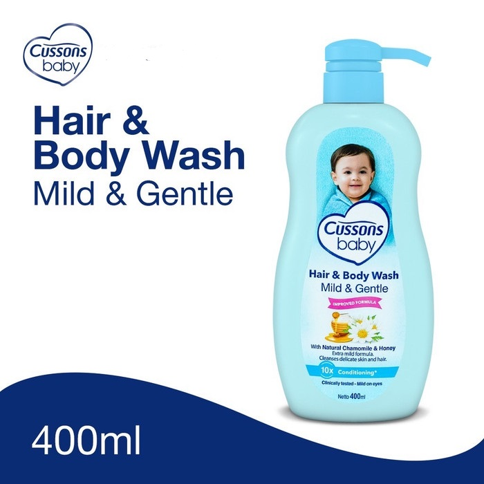 CUSSONS HAIR & BODY WASH MILD & GENTLE 400ML