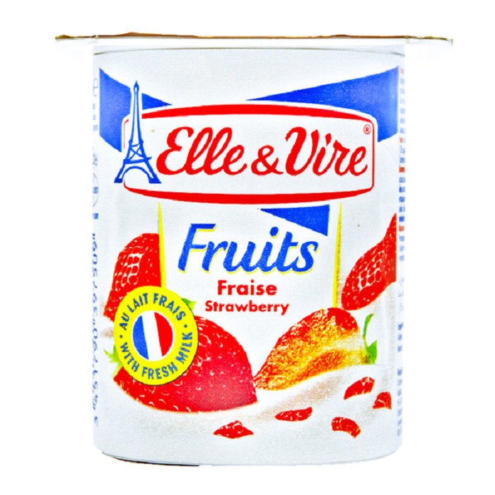 ELLE and VIRE Dessert L STRAWBERRY 125gr