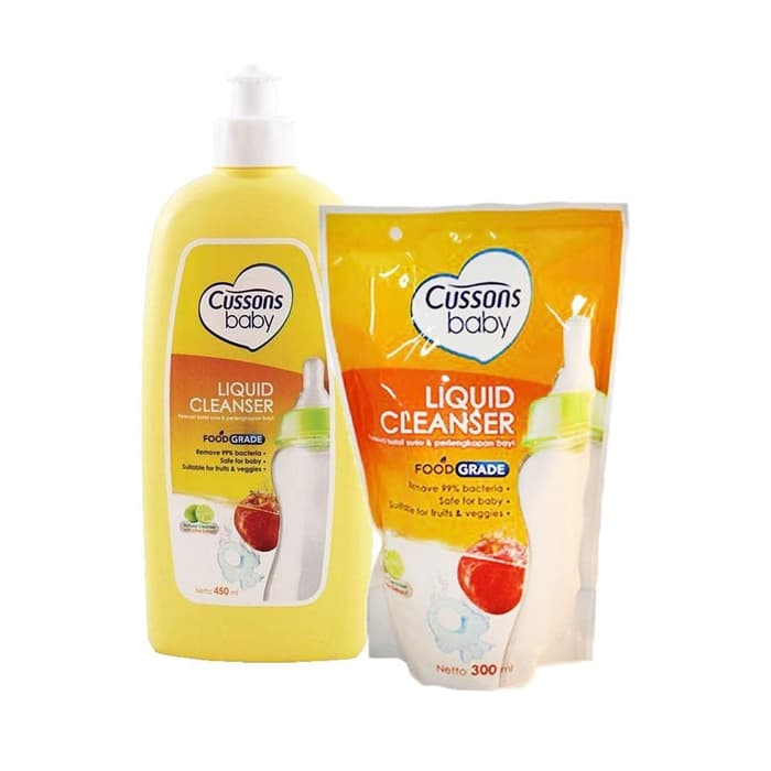 CUSSONS BABY LIQUID CLEANSER  BOTOL 450 ML FREE 1  300ML