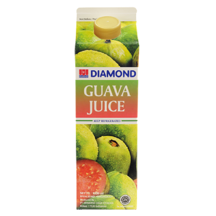 DIAMOND GUAVA JUICE UNSWEETENED 1 LITER