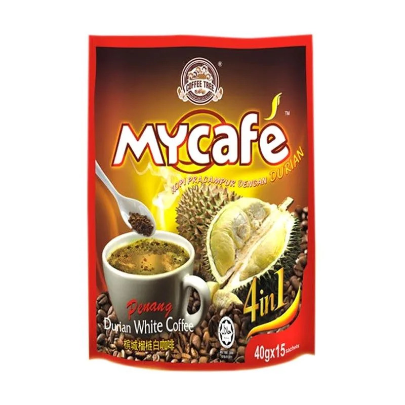 Coffee Tree My Cafe Durian White Coffee ISI 15 Sachet
