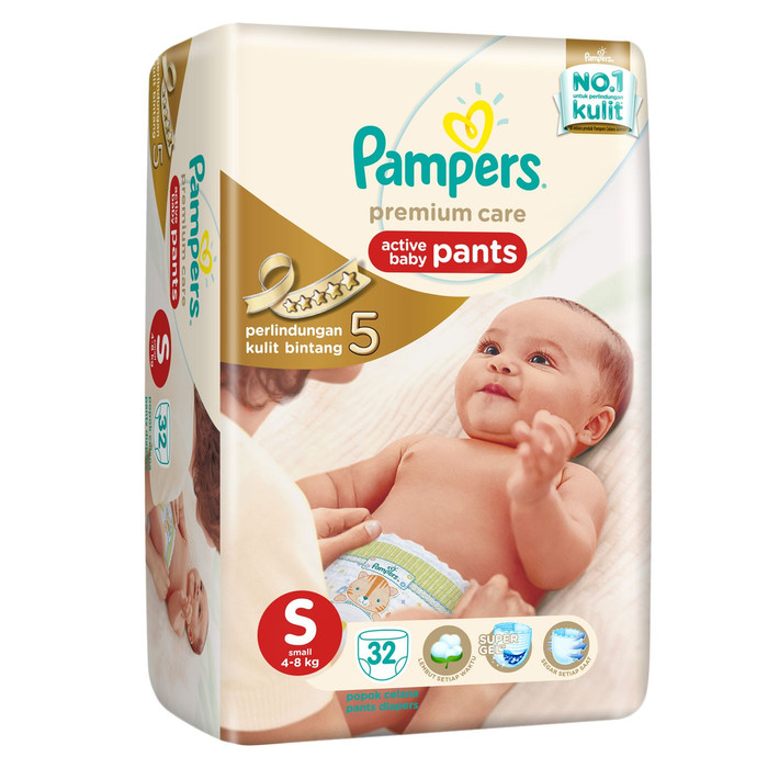 PAMPERS PREMIUM CARE SIZE S ISI 32