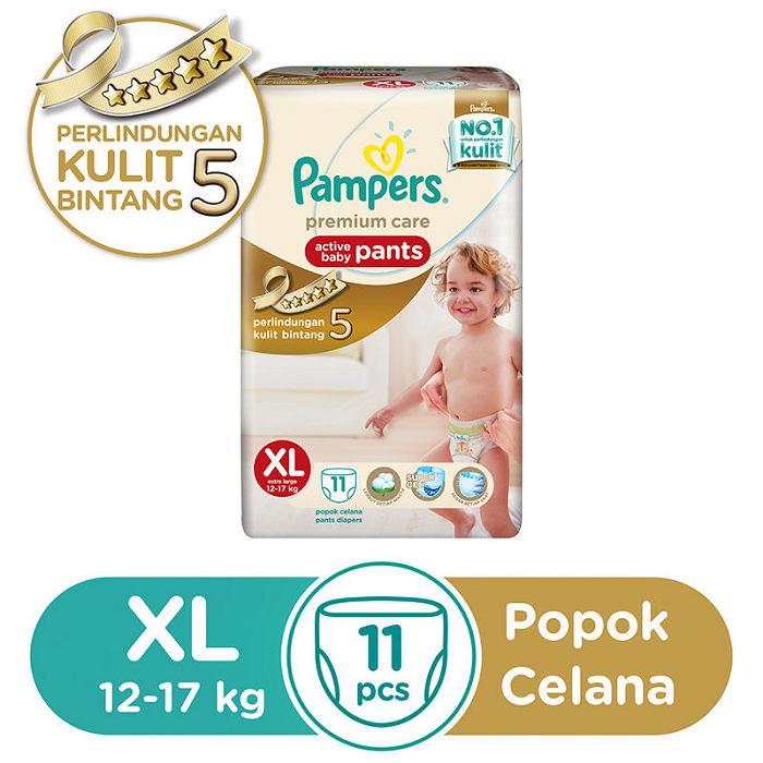 PAMPERS PREMIUM CARE SIZE XL ISI 11
