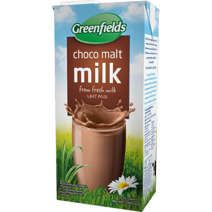 GREENFIELDS FRESH MILK RASA CHOCO MALT 1 LITER