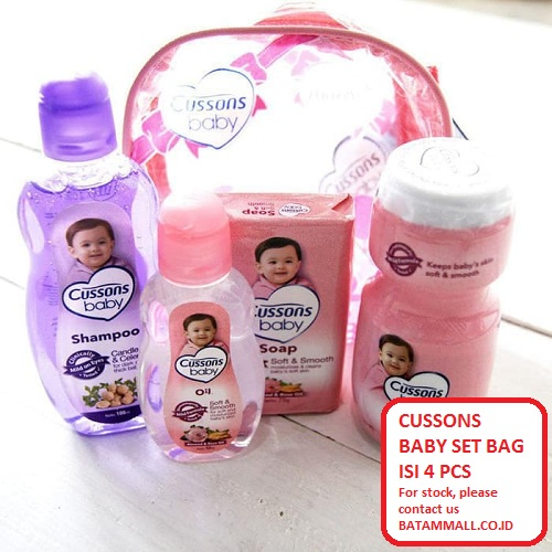 Cussons Baby Daily Care Mini Bag Set Perlengkapan Bayi Pink Set Kemasan Tas 500g