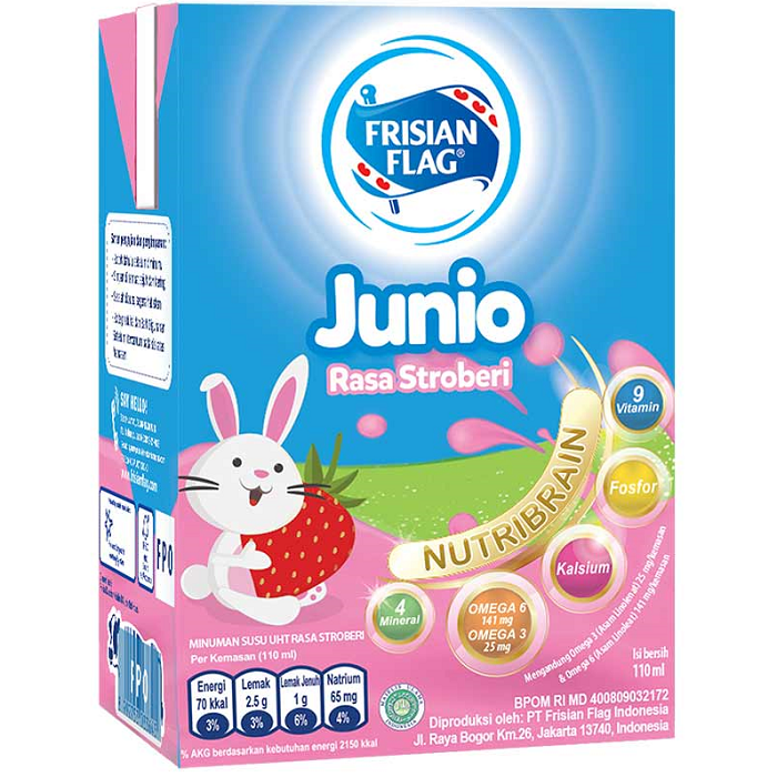 Frisian Flag UHT Junio Strawberry 110ml