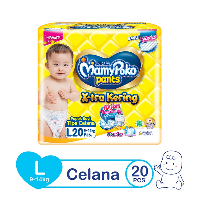 MAMYPOKO PANTS HEMAT EXTRA  KERING SIZE L ISI 20