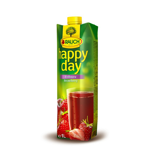 Rauch Happy Day Fruit Juice STRAWBERRY 1 Liter