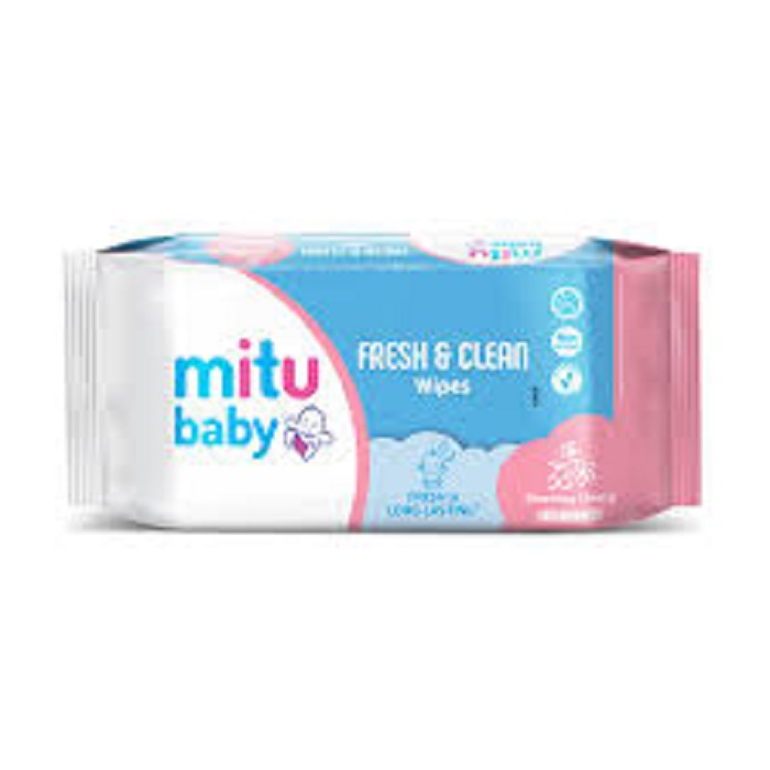 Mitu Baby Wipes Fresh And Clean  Pink 50s