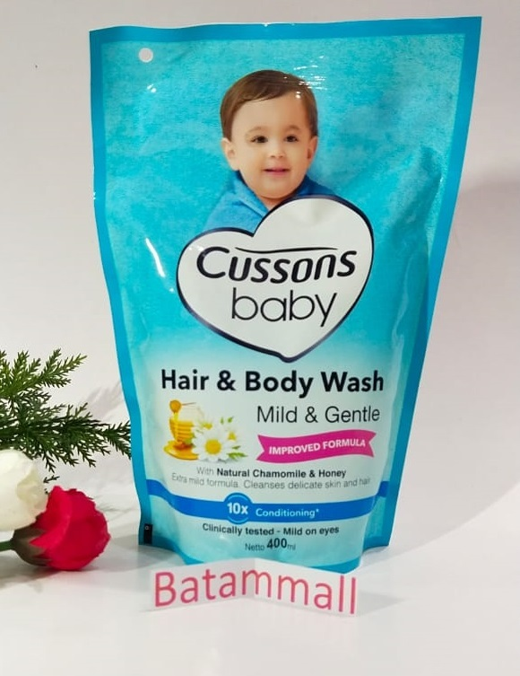 CUSSONS BABY HAIR AND BODY WASH 400 ml